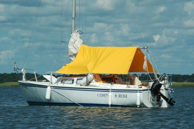 Compass Rose with her new boom tent & CatalinaOwners.com Owner Photo Album